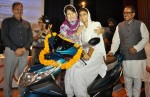 CM LAUNCHES THE SCOOTY SCHEME FOR J&K COLLEGE GOING GIRLS.