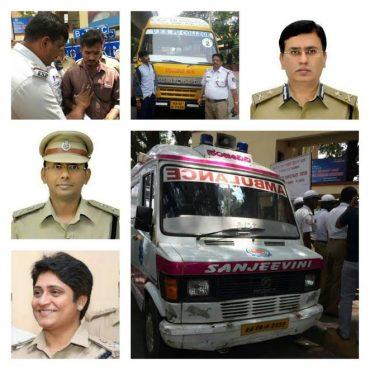 Drunk Ambulance driver and School Van Driver Caught by Halasurgate and Bytarayanpura traffic Police in Bengaluru