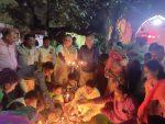 Shalimar residents celebrate Deepavali in unique way as Ekta Camp with BJP leader Sulekh Agarwal and others :