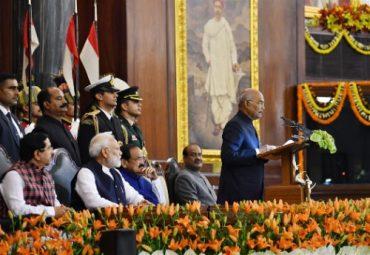 राष्ट्रपति ने भारत के संविधान को अपनाने की 70वीं वर्षगांठ पर आयोजित स्मरणोत्सव में शिरकत की