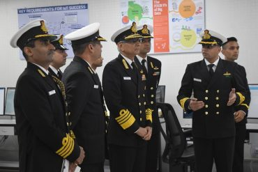 Chief of the Naval Staff visits INS Valsura, Jamnagar