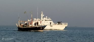 Indian Coast  Guard And Gujarat ATS Apprehended Pakistani Boat Jamjaj  with 05 Pak Nationals And 35 KG Heroine Onboard In a Joint Operation