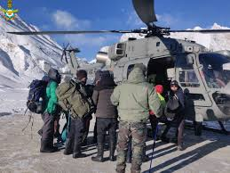 IAF Rescues More than 107 Individuals from the Frozen Zanskar River in the UT of Ladakh