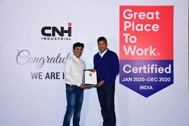 CNH Industrial India certified as a 2020 Great Place to Work®