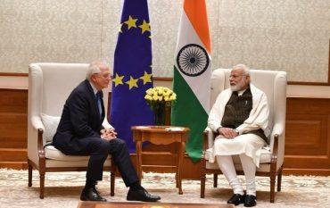 European High Representative/Vice President (HRVP) H.E. Josep Borrell Fontelles Calls on Prime Minister Shri Narendra Modi