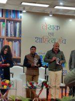 """Deputy Chief Minister of Delhi, Manish Sisodiya unwails """"PARWAAZ – Ek Zakhmi Panchi Ki"""" at world book fair, Pragati Maidan"""