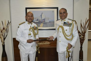 Rear Admiral Puruvir Das NM Assumes Charge of Flag Officer Commanding Gujarat Naval Area ( FOGNA )