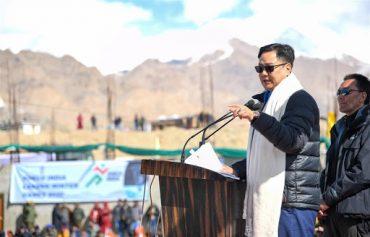 Shri Kiren Rijiju inaugurates 1st Khelo India Winter Games in Leh, Ladakh