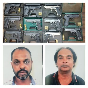 Duo held,Blank Firearms Racket Busted by CCB Police,11 pistols,78 blank bullets with other arms recovered :