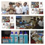 Fake Hand Sanitizer Racket Busted by CCB EOW Wing,Seized 8500 bottles worth Rs.56 lakhs :