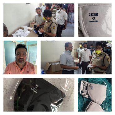 One held Fake N95 Masks Racket busted by CCB police, over 12,000 Masks Seized worth Rs.20 Lakhs: