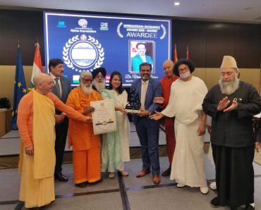 Dr. Vinod K. Verma awarded International Excellence Award at Madrid Spain