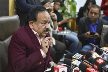 Dr. Harsh Vardhan chairs a video conference with States, UTs and Ministries regarding the steps taken on COVID-19