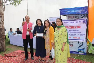 Lions Club Rajouri Garden organized Mega Health check up Camp
