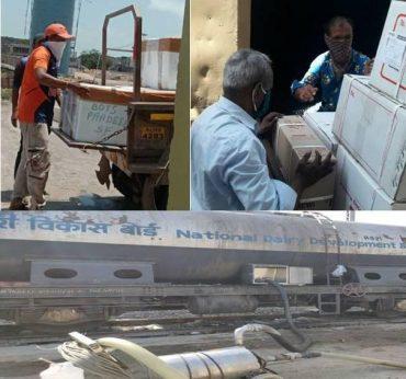 लॉकडाउन के बावजूद पिछले 36 दिनों में पश्चिम रेलवे द्वारा अपनी पार्सल विशेष ट्रेनों के ज़रिये 19,600 टन अत्यावश्यक सामग्री का परिवहन