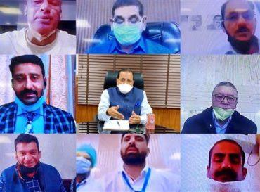 MoS(PP) Dr. Jitendra Singh reviews reparedness of J & K in combating COVID-19 through Video Conferencing