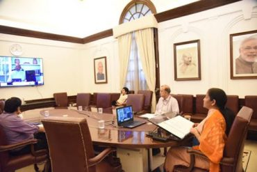 Smt. Nirmala Sitharaman attends the Plenary Meeting of the International Monetary and Financial Committee (IMFC) of the IMF through video-conference