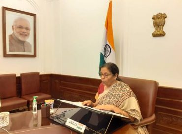 Smt. Nirmala Sitharaman attends the 5th Annual Meeting of Board of Governors of New Development Bank through video-conference