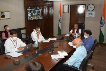 Minister for Rural Development, Panchayati Raj and Agriculture & Farmers' Welfare Shri Narendra Singh Tomar holds Video Conference with State Rural Development Ministers