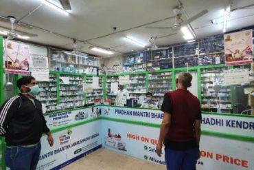 Swasth ke Sipahi deliverying essential services and medicines at doorstep of patients and elderly under Pradhan Mantri Bhartiya Janaushadhi Pariyojana (PMBJP)