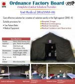 OFB comes up with two-bed tents for screening, isolation & quarantine; Delivers 50 tents to Arunachal Pradesh
