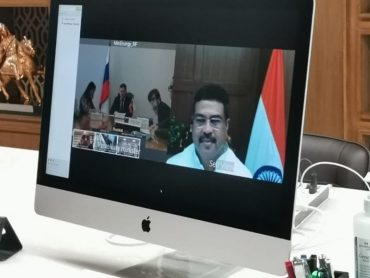 Discussions between Shri Dharmendra Pradhan, Minister of Petroleum and Natural Gas and Steel with Mr Alexander Novak, Minister of Energy of Russia through Video Conferencing
