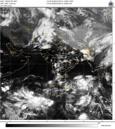 Formation of a Low Pressure area over southeast Bay of Bengal and adjoining south Andaman Sea and its likely intensification into a Cyclonic Storm by 16th May, evening