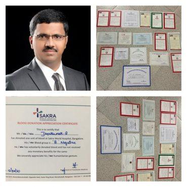 Jayakumar Bakthavatchalam is hero of World Blood Donors Day 2020 :