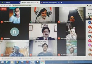 "Union Minister of State(IC) for Culture & Tourism Shri Prahlad Singh Patel addresses a webinar on ""Cross Border Tourism"" promoting Buddhist Pilgrimages"