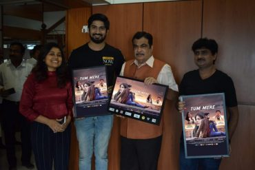 "Nitin Gadkari launched Posters of Actor Sandesh Gour' song ""Tum Mere"" on Zee Music"