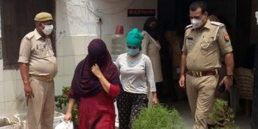 साहिबाबाद में पुलिस ने छापेमारी कर ,  देह व्यापार का  किया पर्दाफाश