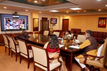 Union Minister of State(IC) for Tourism Shri Prahlad Singh Patel virtually joins the inauguration of project 'Development of Pilgrimage Amenities at Somnath, Gujarat'under Prashad scheme of Tourism Ministry