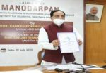 Union HRD Minister launches MANODARPAN  initiative of Ministry of HRD to provide psychosocial support to students for their Mental Health and Well-being