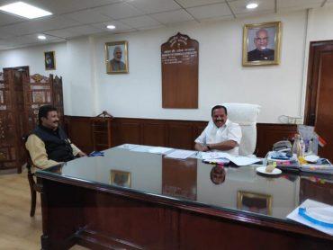 Karnataka Agriculture Minister meets Union Chemicals and Fertilizers Minister Shri Sadananda Gowda