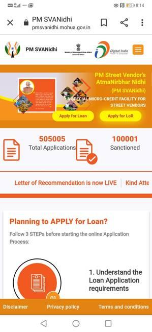 Over 5 lakh applications received under PM SVANidhi scheme Number of loan sanctions under the schemecrosses 1 lakh