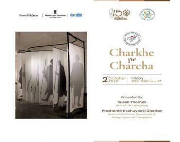 "To mark the birth anniversary of Mahatma Gandhi, Ministry of Tourism organises webinar on ""Charkhe pe Charcha"" under Dekho Apna Desh Webinar Series"