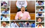 Union Minister Dr Jitendra Singh interacts with farmers and village representatives in Majalta area of district Udhampur in Jammu & Kashmir