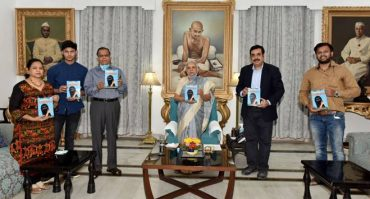 "World's first scientoon book ""Bye Bye Corona""on Coronavirus released by Governor of UP, Ms. Anandi Ben"