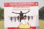 BSF ORGANIZES 21 KMS HALF MARATHON UNDER 'FIT INDIA MOVEMENT' Gujarat