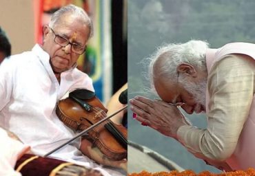 PM condoles the passing away of noted violinist Shri TN Krishnan