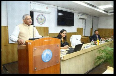General V.K Singh emphasizes upon uniformed approach on national securityand role of individuals