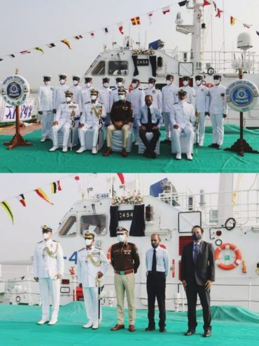 INDIGENOUSLY BUILT INTERCEPTOR BOAT OF INDIAN COAST GUARD GETS COMMISSIONED AT HAZIRA