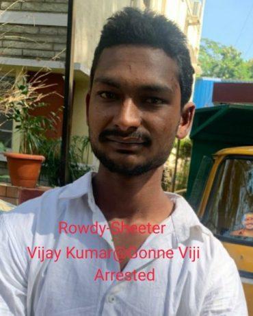 Notorious Rowdy-Sheeter nabbed after shootout by Girinagar police: