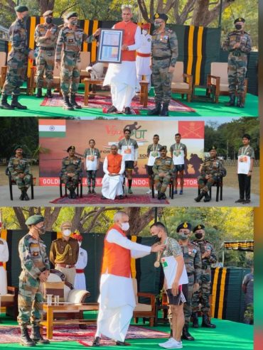 GOVERNOR SHRI OF GUJARAT HAILS 1971 VICTORY ON ARMY DAY