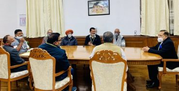 A national delegation of Bharatiya Mazdoor Sangh (BMS) meets Union Minister Dr Jitendra Singh to discuss service matters related to different departments.