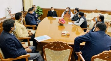 Union Minister Dr Jitendra Singh meets a delegation of senior officers of Punjab Civil Services (PCS) in New Delhi