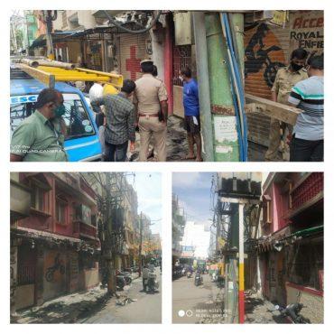 Four injured in a freak petrol tank explosion mishap at a bike repair shop in Cholorupalya: