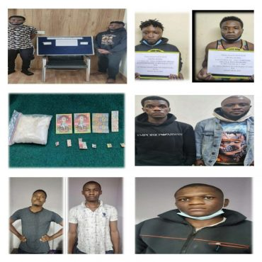 Seven Foreign National Drug Peddlers arrested,Synthetic Drugs worth Rs.12.4 lakhs recovered: