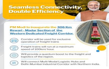 PM dedicates Rewari – Madar section of Western Dedicated Freight Corridor to the Nation