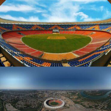 """दुनिया के सबसे बड़े क्रिकेट स्टेडियम का नाम- """"नरेन्द्र मोदी स्टेडियम""""  PM नरेन्द्र मोदी के नाम पर रखा गया नाम."""